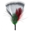 Hat Trims Feather Fan Shape 7cm White/red/green/black
